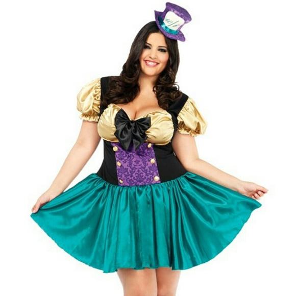 torrid other torrid plus size 3x4x wonderland hatter costume - Cheap Plus Size Halloween Costumes 4x
