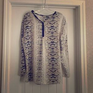Zara Snakeprint Top