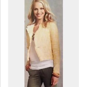 Cabi yellow tweed daisy blazer jacket s small
