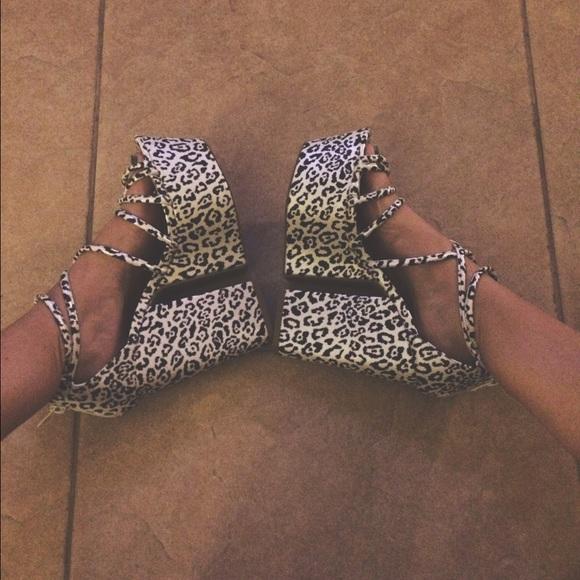 aeea52b5b8 Nasty Gal Shoes   Nwt Sexy Cheetah Platform Heels   Poshmark