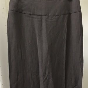 Incotex Dresses & Skirts - INCOTEX LONG CHOCOLATE BROWN REAR ZIPPERED SKIRT!