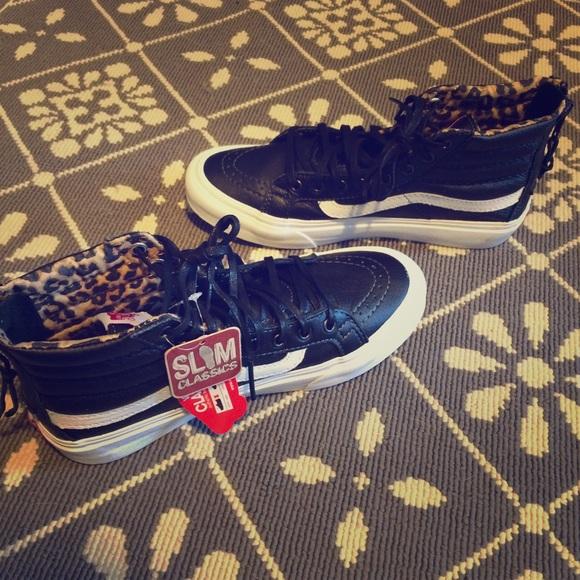 vans sk8hi black/leopard