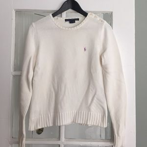 Ralph Lauren sweater - white
