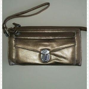 Handbags - Golden wristlet