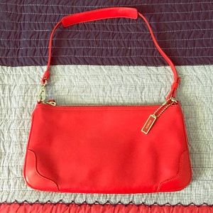Coach Handbags - Coach deep red clutch/mini shoulder purse