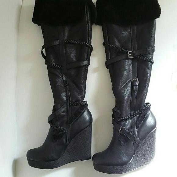 c96816b872cf Dollhouse Shoes - Black Dollhouse Wedge Boots