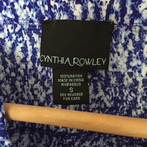 Cynthia Rowley Tops - Blue & White Sleeveless Top