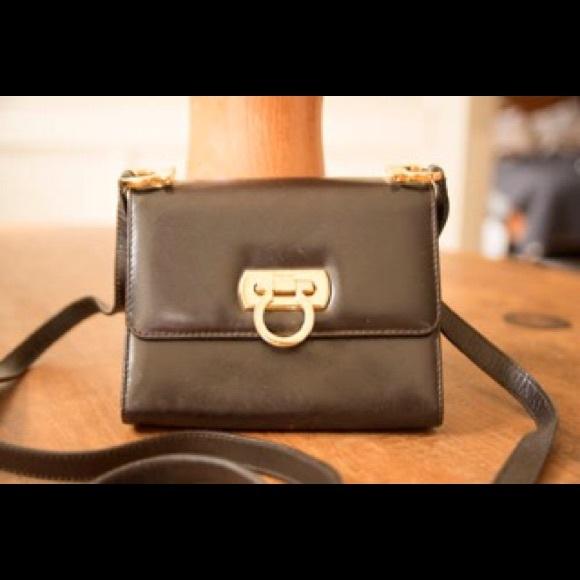f3b8a5c0fc1a Salvatore Ferragamo Vintage Mini Shoulder Bag
