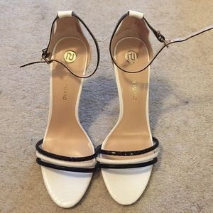 River Island Colorblock Ankle Strap Heels Size 39