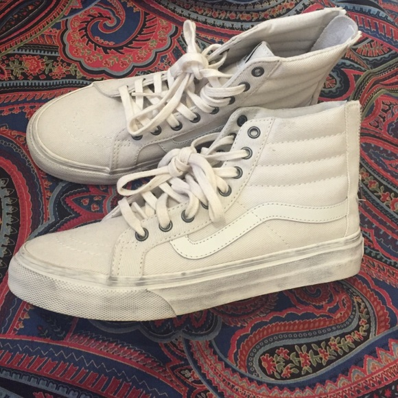 26af7b1707c5 White Vans high top. M 561ae5d32599fee848003c78