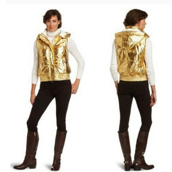 Calvin Klein gold Metallic puff vest