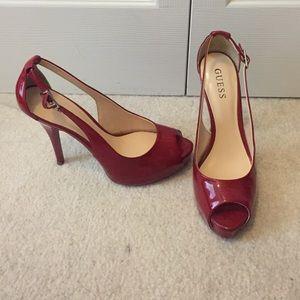 Sexy Red Peep toe Stilettos