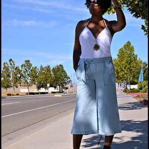 Jessica Simpson Pants - Jessica Simpson Chambray Culottes