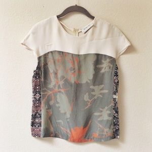 ALC silk printed top