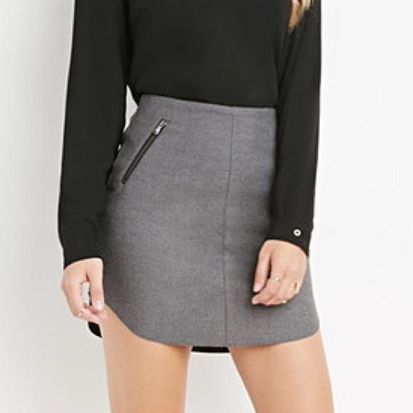 41% off Forever 21 Dresses & Skirts - Dark grey mini skirt with ...