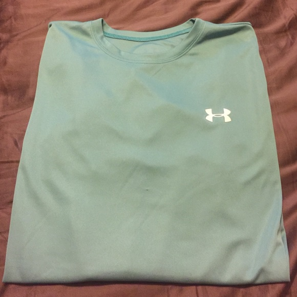 87 off under armour tops under armour light green teal for Teal under armour shirt