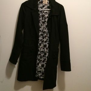 Tulle Wool Blend Pea Coat