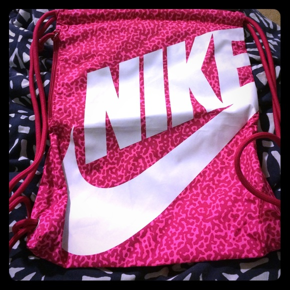 22% off Nike Handbags - Nike Drawstring Pink Backpack from ...