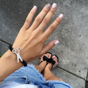 Glam Queen Scissor Bracelet
