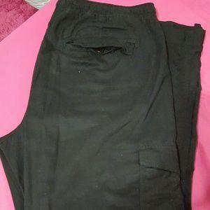 Old Navy Pants - Black pull up cotton pants. No zipper