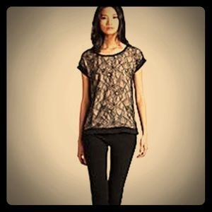 DVF Cordelia Floral Chantilly Lace Silk Blouse Top