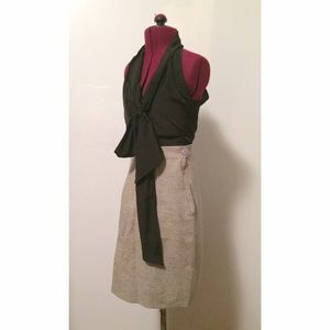 vintage handmade, light tweed pencil skirt~!