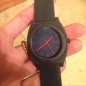 Awesome charcoal black Nixon silicon watch