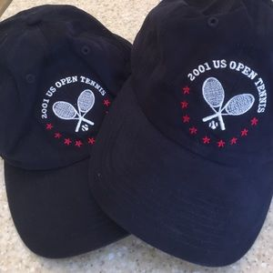 Two (never worn) 2001 US Open caps.