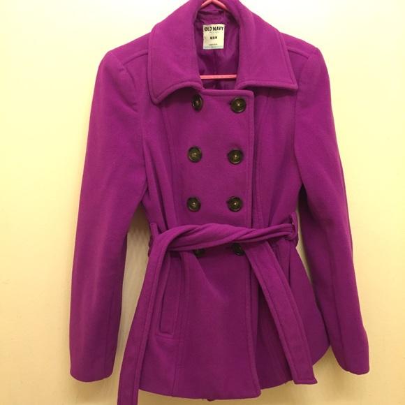56% off Old Navy Jackets & Blazers - Purple Peacoat from Elsie's ...