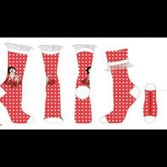 Betty Boop Betty Boop Ruffle Dot Mid Socks From Gear