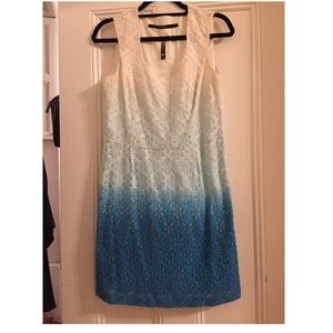 Kensie Ombre white to blue dress