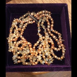 Pearl and Natural Stone Necklace