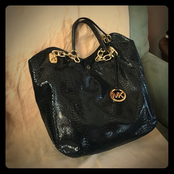 a55674678d978 Michael Kors Bags | Patent Python Leather Fulton Bag | Poshmark