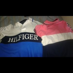 Tommy hilfiger polo ) w/ tag pink one left (xs)