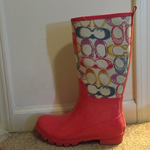 58 Off Coach Shoes Coach Rain Boots Size 9 From Melissa