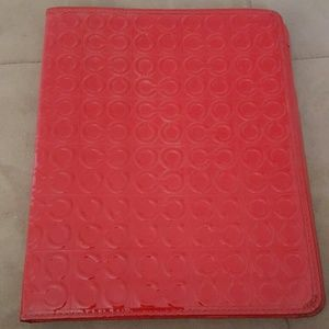 Coach Red Patent Leather iPad case