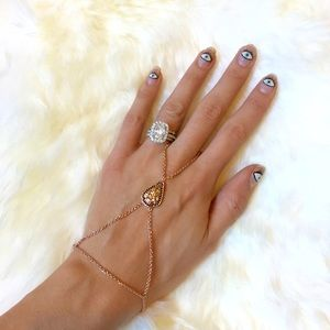 Pamela Love Jewelry - Pamela Love Dainty Rose Gold Arrowhead Hand Chain