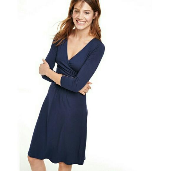 63b2633ddb2 Boden Dresses   Skirts - Boden Elena Blue Fixed Wrap Dress