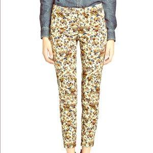 Mango floral skinny pants