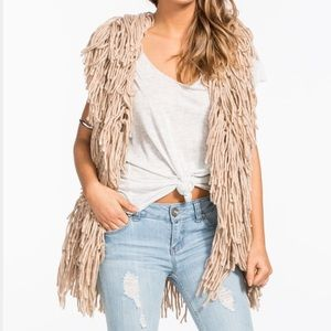 Urban Outfitters Shaggy Boho Chic Statement Vest