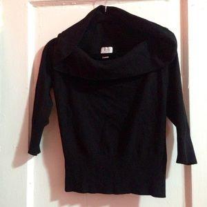LOFT Sweaters - ✨✂️✨ NWOT Super Soft Inky Black Cowl Sweater