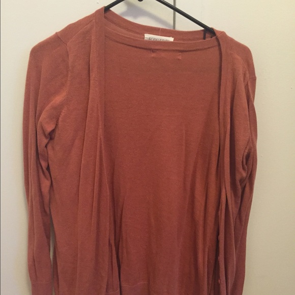57% off Forever 21 Sweaters - Rust colored cardigan from Angie's ...