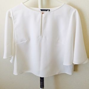 Marciano Tops - Marciano White Short Sleeve Blouse