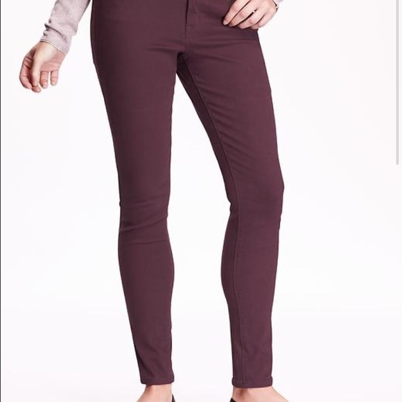63% off Old Navy Denim - Wine colored rockstar jeans from Mollie's ...