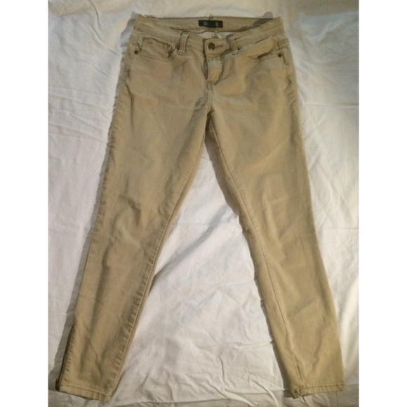 c6c59fb7291c0 Forever 21 Pants | Khaki Zipper Ankle Skinny Jeans | Poshmark