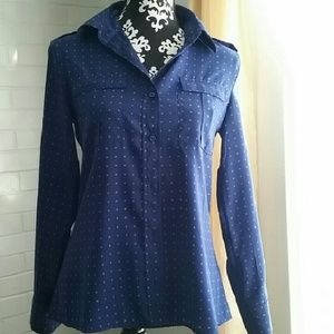 Price Drop!!!!Red and Navy Banana Republic Blouse