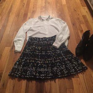 J crew pleated skirt size 00