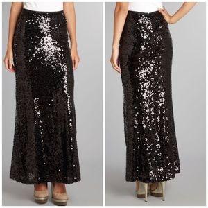 Ella Moss Dresses & Skirts - Ella moss black sequin maxi skirt
