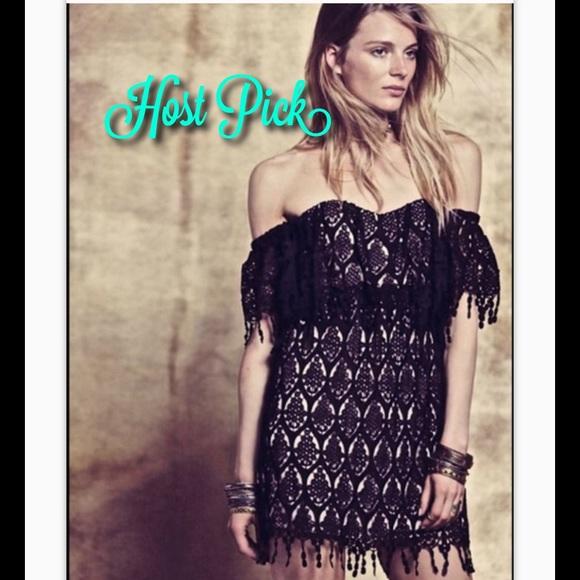 Stone Cold Fox Dresses & Skirts - Free People Stone Cold Fox black lace Iowa Dress