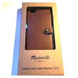 Madewell iPhone 5/5s Leather Card Case